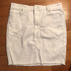 Joe Fresh White Jean Skirt